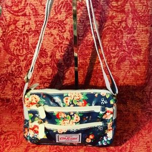 Blue floral print Cath Kidston handbag
